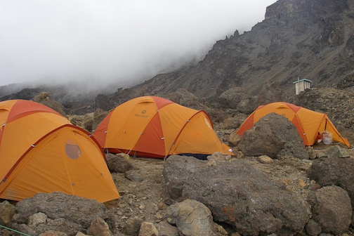 Barafu Camp, elevation 14,720 feet. The summit bid was launched from here at 11:30 PM.