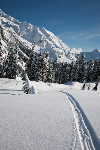 Along the way: Spectacular winter landscapes make the climb to Artist Point a scenic delight.