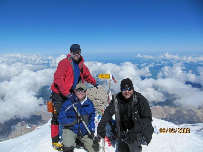 Dawn during summit bid; Me, Ed, Richard