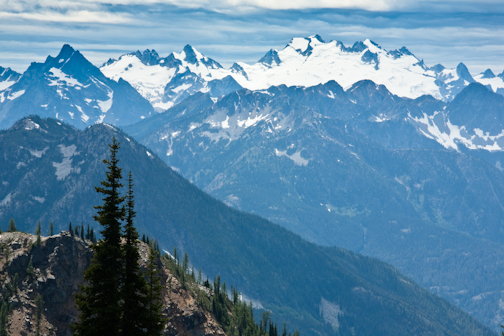 The views from the Maple Pass loop are glorious on a summer afternoon