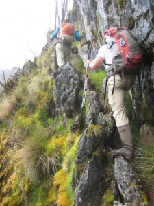 Traversing the highland wall