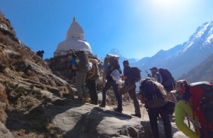Trekking toward Everest