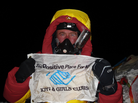 The highest man on Earth - Dave on the summit, 3:42 a.m., May 20th, 2013