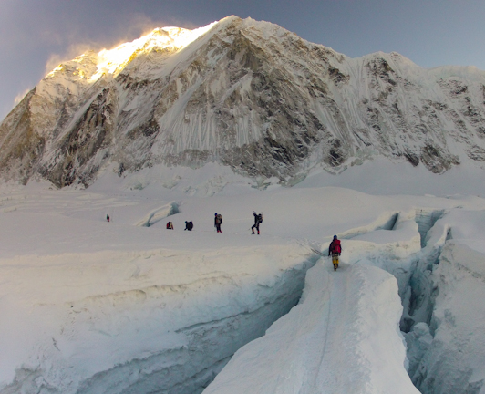 Exiting the Khumbu Ice Field