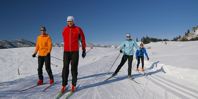 Skate Skiing the Methow