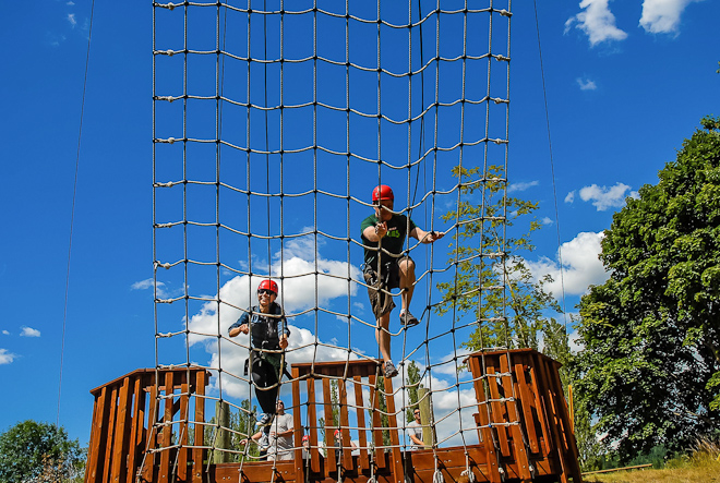 Racing your partner to the top of an obstacle course will teach you things you never dreamed you didn't know.