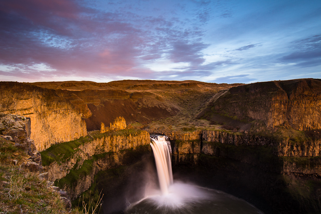 No trip to the Palouse is complete without a stop at 198-foot Palouse Falls, one of the state's most impressive cataracts. Photo by Aaron Theisen