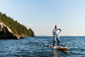 Brian Smart in Chuckanut Bay. Photo by Mike Powell