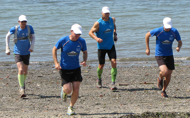 The Cascade Mountain Runners depart from Bellingham Bay. Photo by Todd Warger