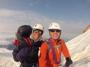 Bud Hardwick and Daniel Probst approaching the summit of Koma Kulshan