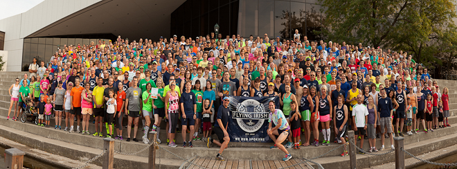 Flying Irish Running Club, Spokane. Photo by Brendan Cassida