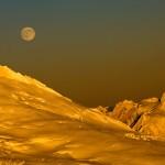 Sherman Peak, Mount Shuksan and Long Night Moon