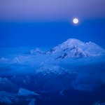 Mount Baker and Snow Moon