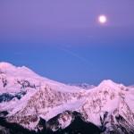 Mount Baker & Full Moon