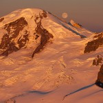 Mount Baker Sunset with Buck Moon