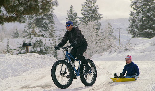 You can't ride a fat bike without a smile.  Methow Valley, Wash. (Photo courtesy of Kristen Smith)