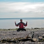 Author halfway across the Strait of Georgia