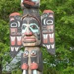Totem poles near Ketchikan, AK