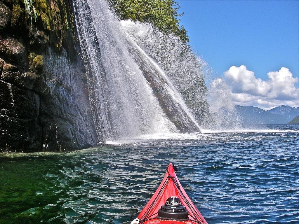 Pummeling pandemonium of Butedale Falls, BC