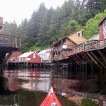 "Entering Ketchikan in style via ""Creek Street"""