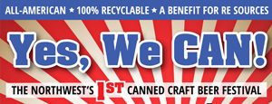 Yes, We CAN! The Pacific Northwest's #1 Canned Craft Beer Festival @ Street party outside of Elizabeth Station, on Holly & Broadway