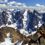 The Southern Picket Range from the summit of Mt. Fury, North Cascades National Park, Washington, USA.