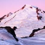 Mt. Baker at dawn from Ptarmigan Ridge, Mount Baker Wilderness, North Cascades, Washington, USA