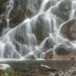 A waterfall along Blum Creek below the upper lake, North Cascades National Park, Washington.