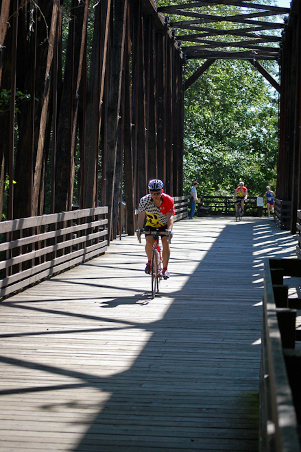 Crossing the Dungeness River on the Railway Bridge Park Trestle