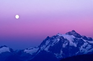 mt. shuksan & moon