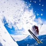 On big powder days the snow likes to follow Matt Niederhauser.... the water molecules must be jealious of his jacket. Matt Niederhauser, Skiing, Mt. Baker Ski Area Backcountry, North Cascades Washington