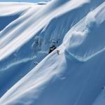 Mattias Evangelista skiing in the Mt. Baker Backcountry