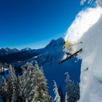 Rene Crawshaw skiing at Mt. Baker