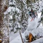 Mark Abma skiing deep powder at Mt. Baker