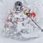 Cody Townsend skiing deep powder at Mt. Baker