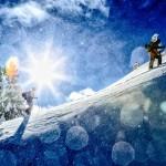 Tess Golling, Adam Ü skiing at Mt. Baker