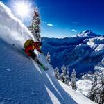 Matias Evangelista skiing at Mt. Baker