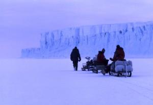 Lokey's team in Antarctica. Photo by Bill Lokey