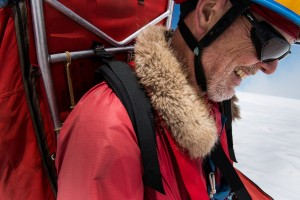 "On the summit of Rainier. Photo by Francois-Xavier ""Fix"" De Ruydts"