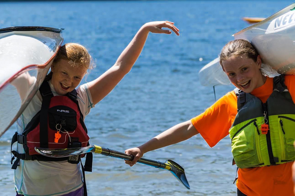 (L-R) Sierra Noskoff and Elena Wolgamot, winners of the Barton Bantams Challenge. Photo by Sara Mostad