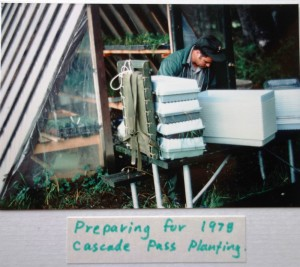 Lester's Re-vegetation facilityin Marblemount circa 1978 (Photo courtesy of North Cascades National Park)