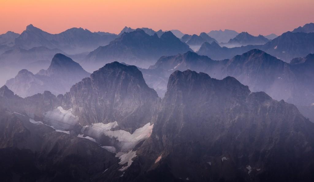 Sunrise from Sahale Glacier Camp