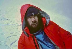 Simon at 18,000 feet