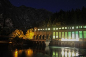 The Gorge Powerhouse at night. Photo by Dallas Betz