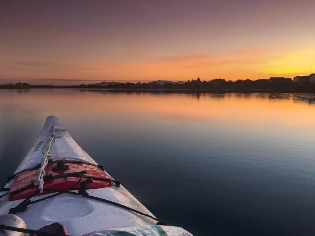 Dawn on Swinomish Slough. Photo by Dallas Betz