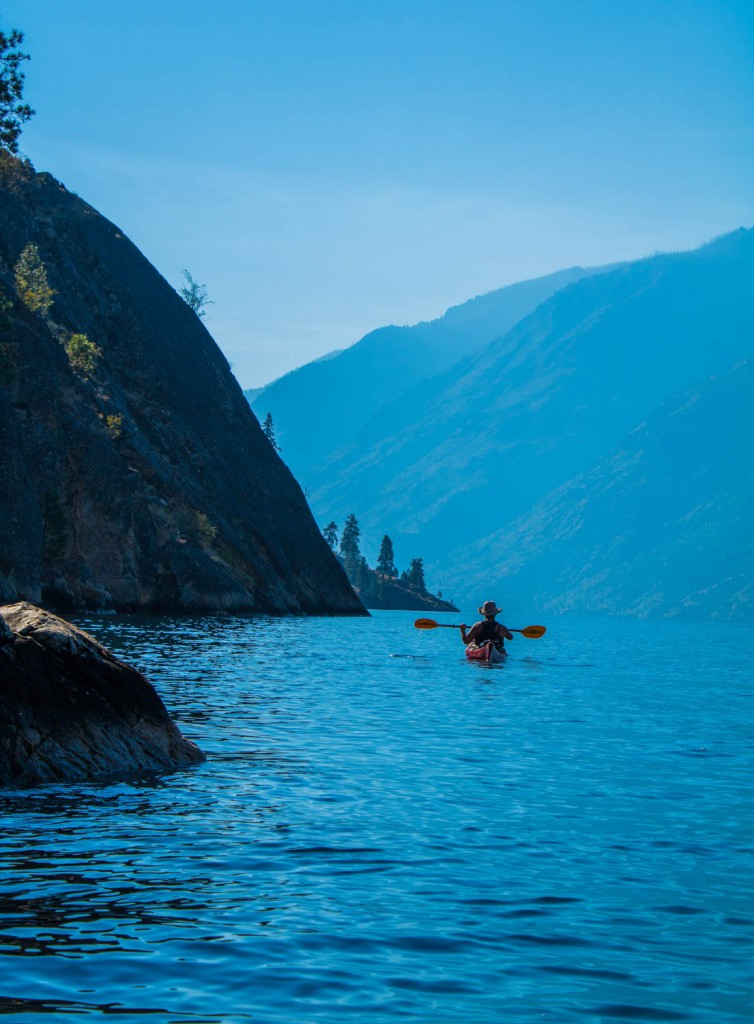 Kayaking Lake Chelan. Photo by Shari Galiardi