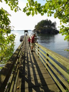 Matia's Wilderness Loop Trail starts at the dock at Rolfe Cove. Photo by Craig Romano