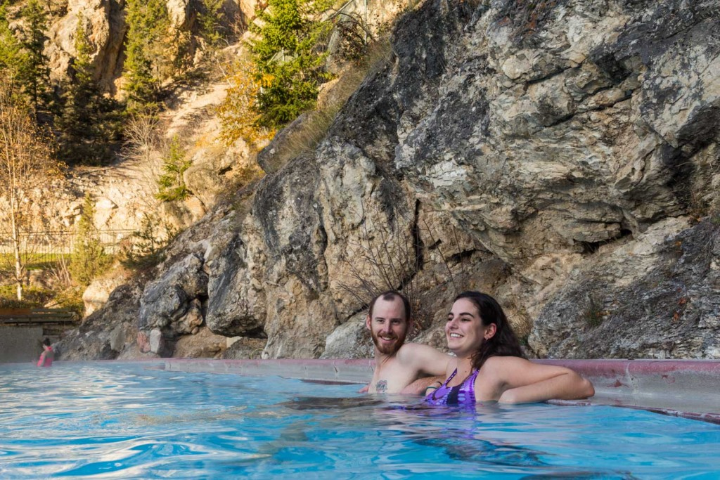 Blissed out in Radium Hot Springs, Kootenay National Park.