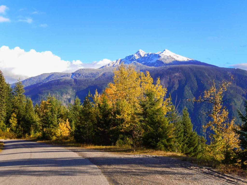 Scenic autumn spot on the Meadows in the Sky Parkway in Mount Revelstoke National Park